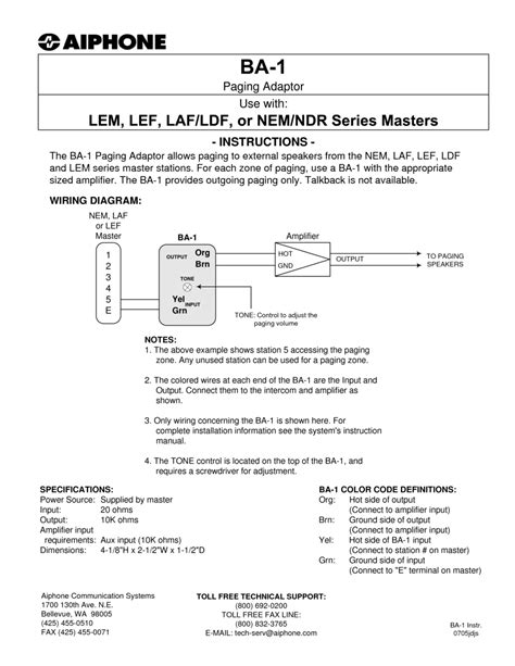 aiphone wiring diagrams lef 3 dl aiphone wiring diagram