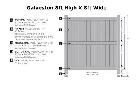 8 foot fence sections galveston fence section academy fence company nj pa ny