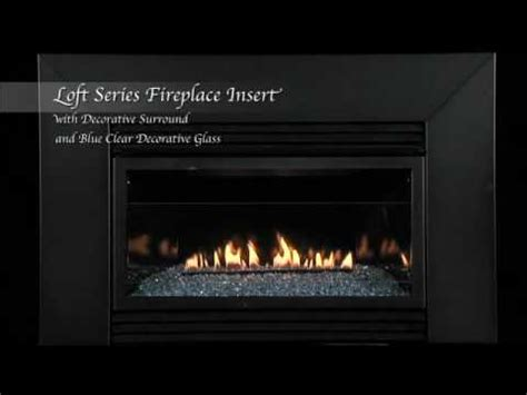 glass door fireplace insert loft series vent free fireplace insert with surround and