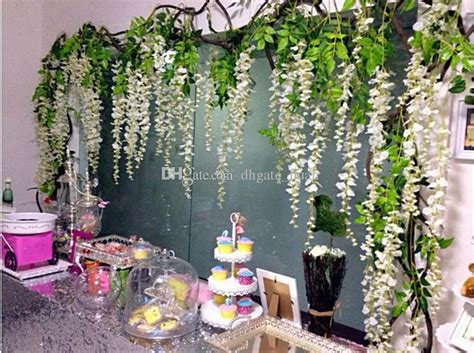 in home decorating wisteria flowers and gifts best quality wisteria wedding decor 110cm 75cm artificial