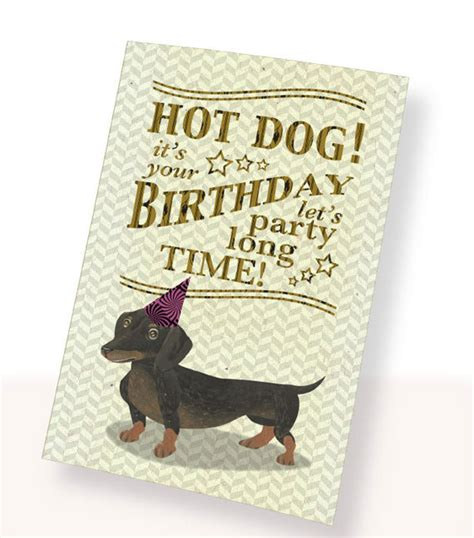printable birthday cards dogs printable pdf cute dachshund dog birthday card brown white