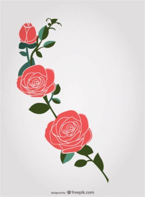 imagenes de flores vector dibujo de rosas rojas descargar vectores gratis
