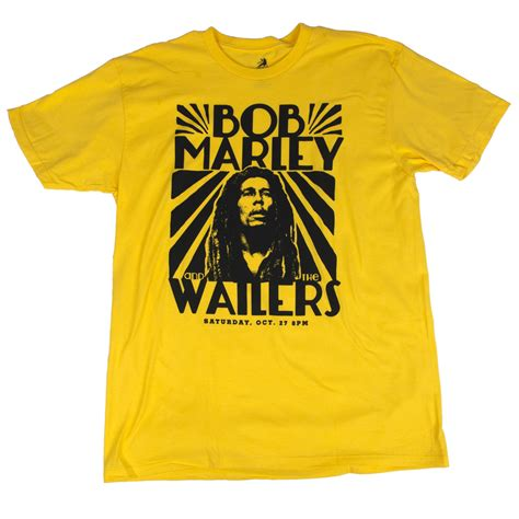 T Shirts Bob Marley Rasta bob marley and the wailers vintage yellow t shirt s