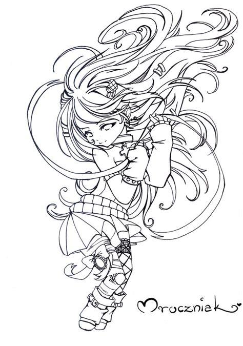 anime girl chibi coloring pages chibi ran color me by mroczniak on deviantart
