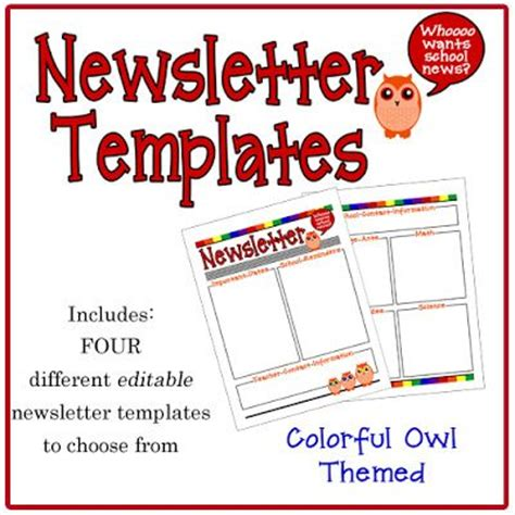digital newsletter templates free colorful owl newsletter templates from 4 school