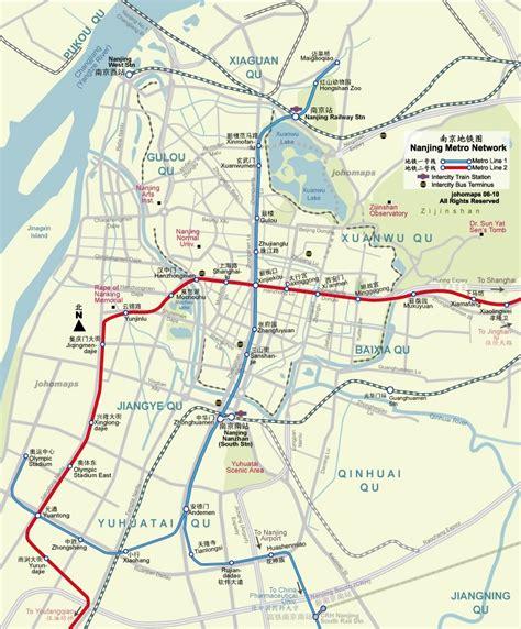 Nanjing travel maps 2010-2011 | Printable metro (subway ...
