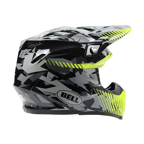 camo motocross helmet bell new 2017 mx moto 9 dirt bike moto 9 grey yellow camo