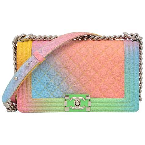 chanel rainbow chanel boy handbag medium 17 crossbody new