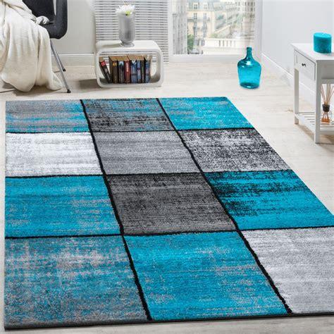 farbkombinationen grau designer teppich modern kurzflor karos speziell meliert
