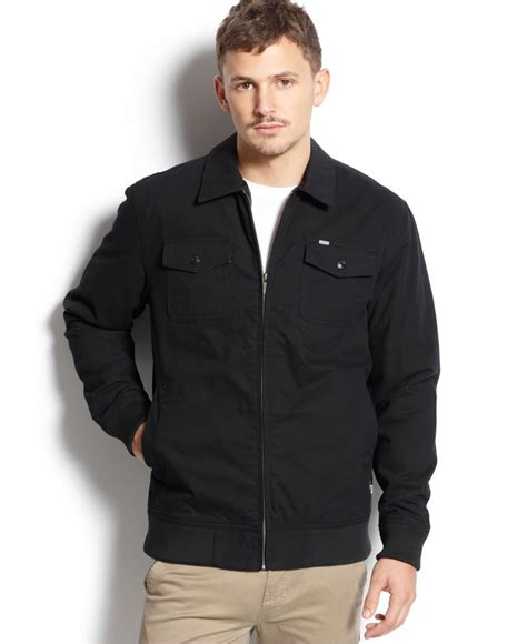 Sweater Ripcurl Twotone Cotton Grey Black rip curl solid two pocket jacket in black for lyst