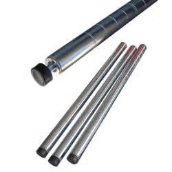 montanti scaffali montanti per scaffalatura h 207 cm kit 4 pali cromati con