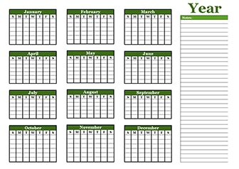 blank yearly calendar grid free yearly blank calendar template printable blank