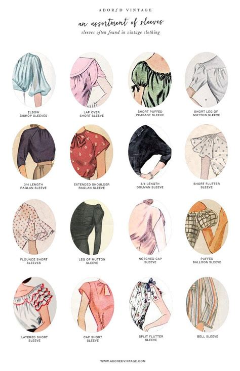 popular pattern types 16 different types of sleeves often found in vintage