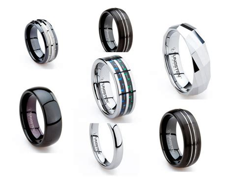 tungsten  gold  silver perfect wedding band