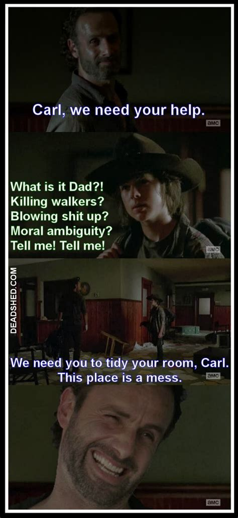 The Walking Dead Carl Meme - deadshed productions hershel edition the walking dead