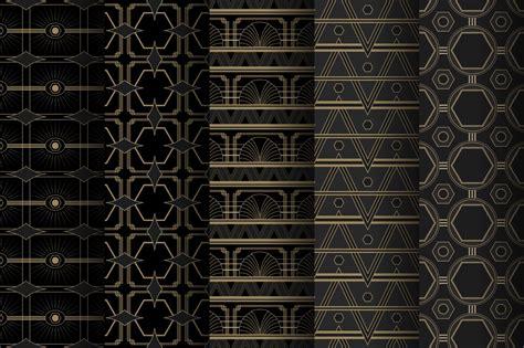 art deco pattern art deco seamless patterns vintage style design assets