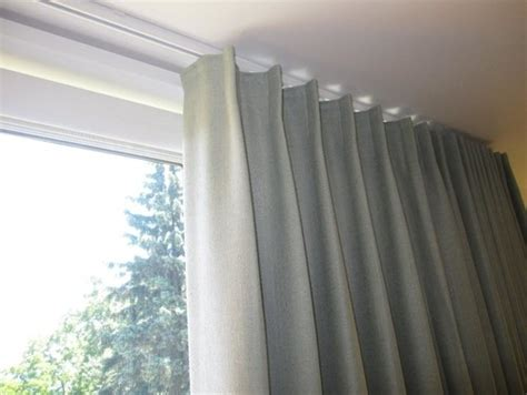track for curtains on ceiling recessed curtain track installation