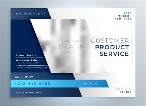 Blue Business Brochure Presentation Template Color Design Download Free Vector Art Stock Brochure Presentation Template