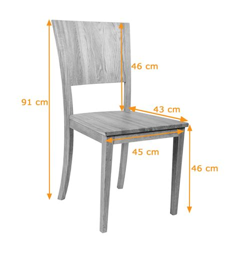 Standard Dining Chair Size Large Contemporary Solid Oak Dining Chair Oak Finish