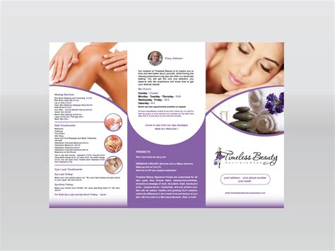 design flyer spa feminine elegant brochure design design for tracy salmeri