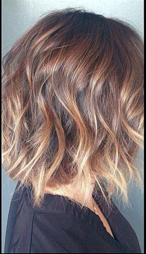 short hairstyles blonde and brown 30 hair color ideas for short hair wavy bobs bob cut