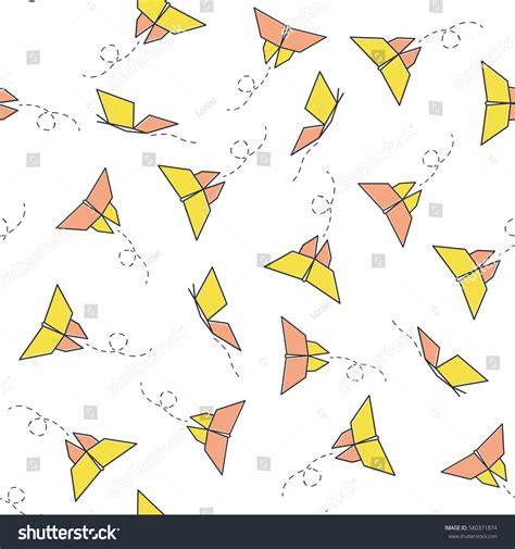 orange black design paper color material design seamless vector pattern butterflies yellow orange stock
