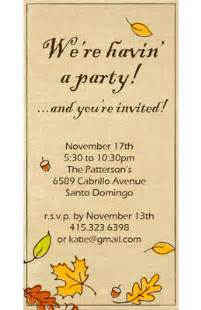 quot fall party invitation quot thanksgiving printable card
