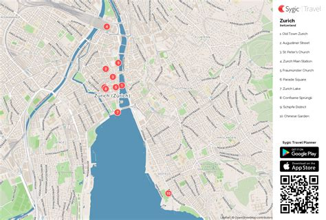 printable map zurich zurich printable tourist map sygic travel