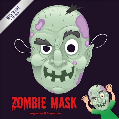 free printable zombie mask zombie mask vector free download
