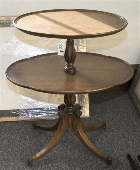 side table height two tiered side table height 30 inches