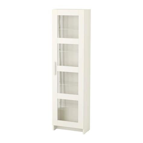 Armoire Glass Doors by Brimnes High Cabinet With Glass Door White