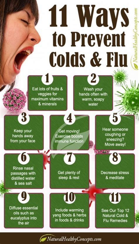 7 Tips On Preventing The Common Cold by 11 Ways To Prevent Colds Flu Infographic Healthy