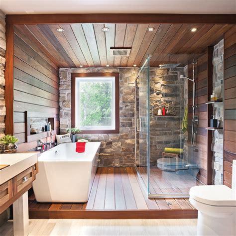 salle de bain rustique tout de et de bois salle