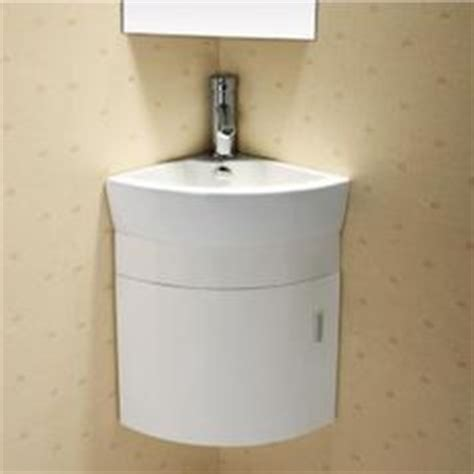 white compact corner vanity unit bathroom furniture sink