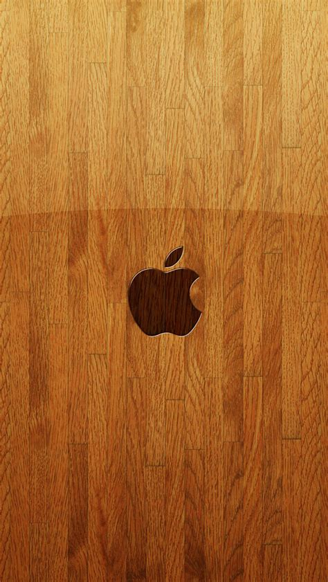 wallpaper for iphone 5 wood apple logo on wood iphone 5 wallpapers top iphone 5
