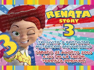 invitaciones de toy story jessie digitalo invitaci 243 n jessy toy story 3
