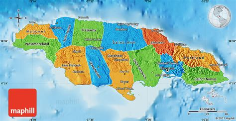 physical map of jamaica political map of jamaica physical outside