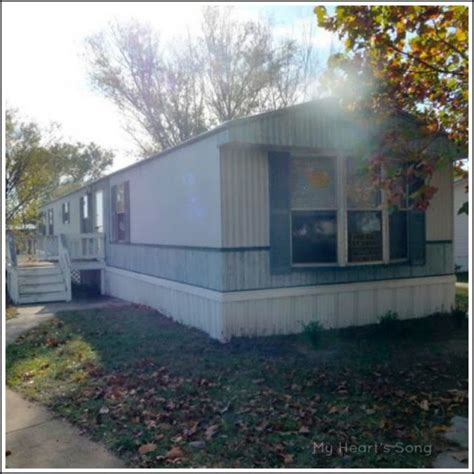 my s song mobile home exterior before after