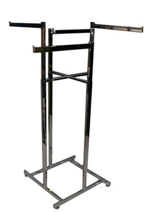 Rack Capacity by 4 Way Hi Capacity Rack Chrome Arms Garment Rack