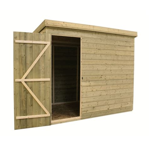 7 X 6 Shed by 7 X 6 Windowless Pressure Treated Tongue And Groove Pent