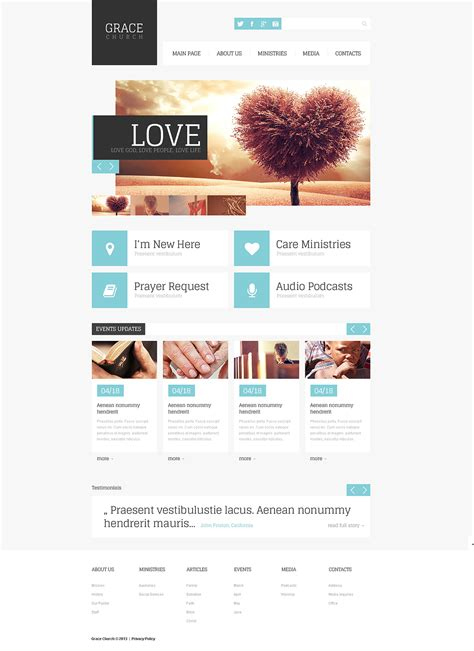 Religious Responsive Website Template 45895 By Wt Website Templates Responsive Church Website Templates