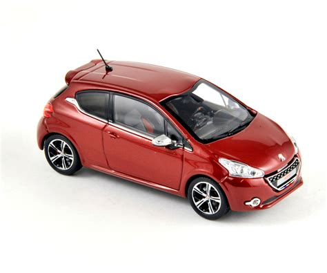 peugeot 208 red norev 2012 peugeot 208 gti ruby red 472803 in 1 43