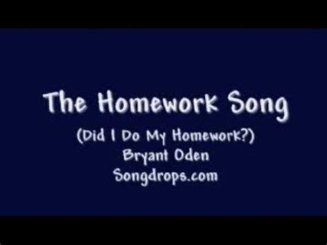 what does sog stand for song 6 the homework song