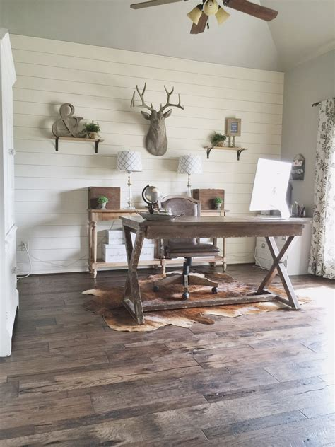 Rustic Shiplap How To Install A Shiplap Wall Rustic Home Office