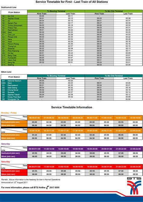 bts schedule bts timetable bangkok bts hotels shopping malls