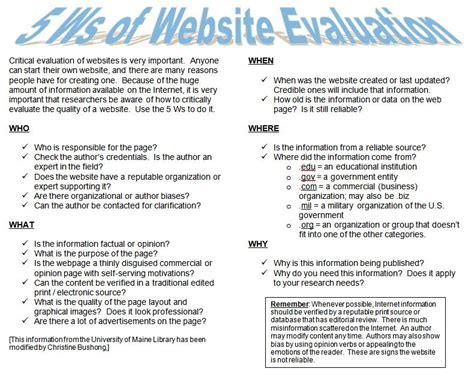 website evaluation tutorial sbp portal evaluating sources of information