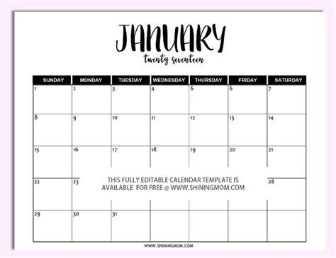 ideas calendar template pinterest