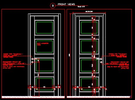 door plan elevation and section entrance single leaf door plan section and elevation cad
