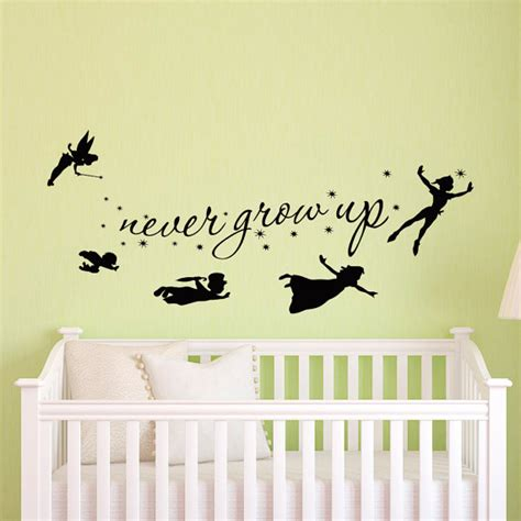 pan wall stickers pan wall decal children flying silhouette by