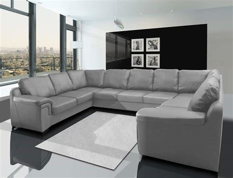 u shaped sofa design comfortable black leather sectional sofa recliner